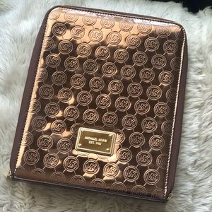 Michael Kors rose gold metallic iPad case
